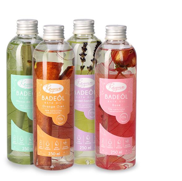 Reyuve Naturkosmetik Badeöl natürliche Inhaltsstoffe
