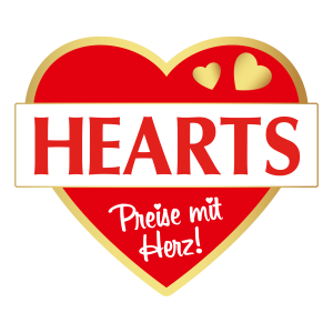 HEARTS, Preise mit Herz, Logo, rot