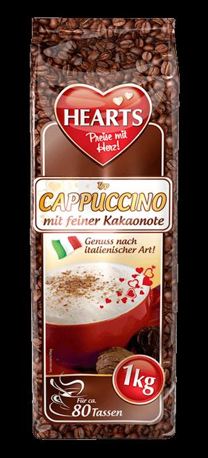 HEARTS, Cappuccino, Kakaonote, Kakao, Instant, italienischer Genuss
