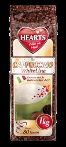 HEARTS, Cappuccino, WhiteLine, Instant, italienischer Genuss